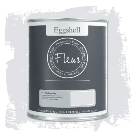 Fleur Chalky Look Eggshell All About Grey 750ml - Las Auténticas