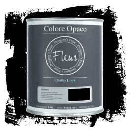 Fleur Chalky Look Black 750ml - Chalk Paint Las Auténticas