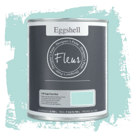 Fleur Chalky Look Eggshell Cape Town Blue 750ml - Chalk Paint Las Auténticas