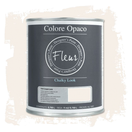 Fleur Chalky Look Cream Love 750ml - Chalk Paint Las Auténticas