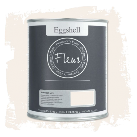 Fleur Chalky Look Eggshell Cream Love 750ml – Chalk Paint Las Auténticas