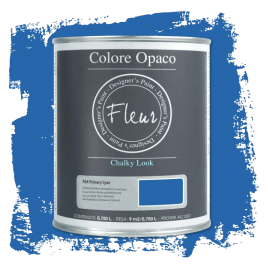 Fleur Chalky Look Primary Cyan 750ml - Chalk Paint Las Auténticas