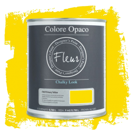 Fleur Chalky Look Primary Yellow 750ml - Chalk Paint Las Auténticas