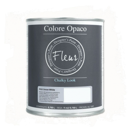 Fleur Chalky Look Snow White 750ml - Chalk Paint Las Auténticas