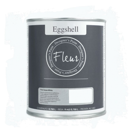 Fleur Chalky Look Eggshell Snow White 750ml - Chalk Paint Las Auténticas