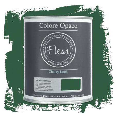 Fleur Chalky Look The Green Queen 750ml - Chalk Paint Las Auténticas