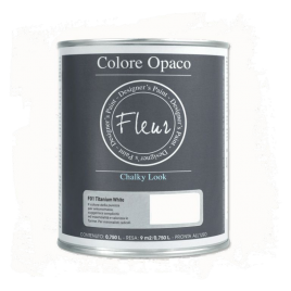 Fleur Chalky Look Titanium White 750ml - Chalk Paint Las Auténticas