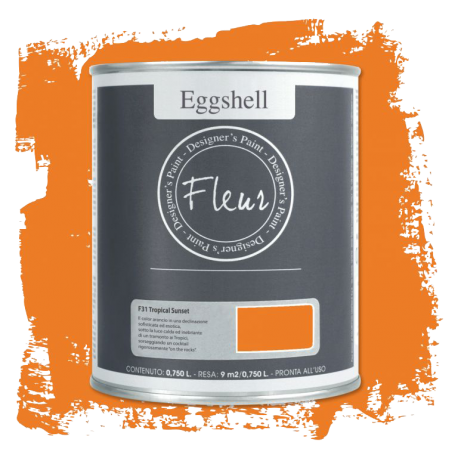 Fleur Chalky Look Eggshell Tropical Sunset 750ml - Chalk Paint Las Auténticas