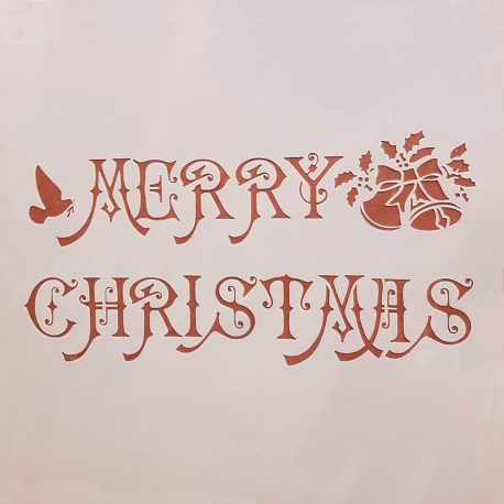 Stencil Merry Christmas - Chalk Paint Las Auténticas