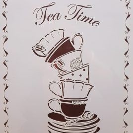 Stencil Tea Time - Chalk Paint Las Auténticas
